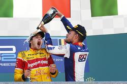Race winner Antonio Giovinazzi, PREMA Racing, third place Luca Ghiotto, Trident