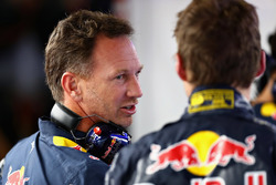 Max Verstappen, Red Bull Racing with Christian Horner, Team Principal Red Bull Racing