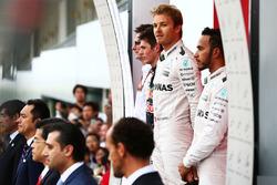 Podium: 2. Max Verstappen, Red Bull Racing; 1. Nico Rosberg, Mercedes AMG F1; 3. Lewis Hamilton, Mercedes AMG F1