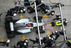 Michael Schumacher, Mercedes GP F1 Team pit stop