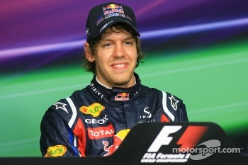 Press conference: pole winner Sebastian Vettel, Red Bull Racing