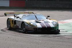 In a very sandy Villeneuve Chicane; #41 Marc VDS Racing Ford GT Matech: Maxime Martin, Frédéric Makowiecki