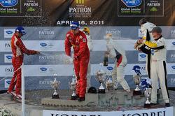 GT2 podium: champagne celebration