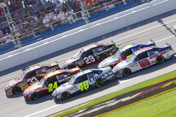 Clint Bowyer, Richard Childress Racing Chevrolet, Jeff Gordon, Hendrick Motorsports Chevrolet, Jimmie Johnson, Hendrick Motorsports Chevrolet, Kevin Harvick, Richard Childress Racing Chevrolet, Mark Martin, Hendrick Motorsports Chevrolet, Dale Earnhardt J