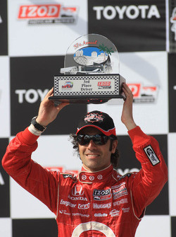 Second place Dario Franchitti, Target Chip Ganassi Racing