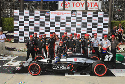 Race winner Mike Conway and the #27 Andretti Autosport team