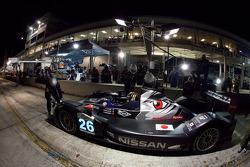 Pit stop for #26 Signatech Nissan Oreca 03 Nissan: Franck Mailleux, Lucas Ordonez, Soheil Ayari