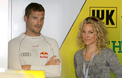 Martin Tomczyk, Audi Sport Team Phoenix, Audi A4 DTM and Christina Surer, fiancee of Martin Tomczyk, Audi Sport Team Phoenix, Audi A4 DTM
