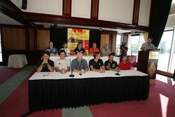 Pre-event press conference: drivers are presented