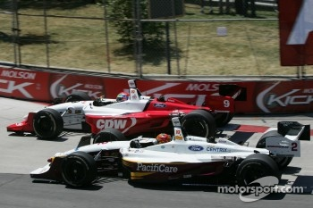 First turn: Justin Wilson and Oriol Servia