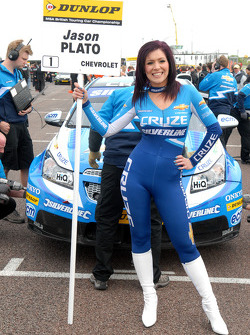 Caroline Hall Grid girl to Jason Plato