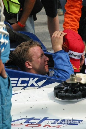 A.J. Allmendinger prepares to celebrate