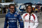 A.J. Allmendinger with his girlfriend