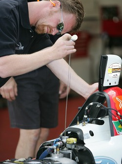 Newman Haas Racing crew member at work