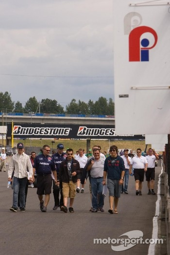 Track walk for Forsythe Champ Car Atlantic team drivers