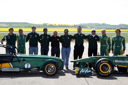 Ricardo Teixeria, Mike Gascoyne, Team Lotus, Chief Technical Officer, Tony Fernandes, Team Lotus, Team Principal, Ansar Ali, Caterham Cars, Heikki Kovalainen, Team Lotus