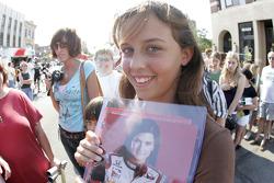Jackson RaceWeek Festival: a fan of Danica Patrick