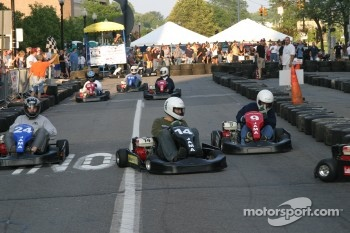 Go-kart race at the Jackson RaceWeek Festival