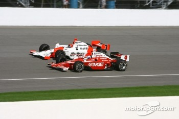 Scott Dixon and Helio Castroneves