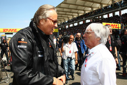 Mansour Ojeh, Commercial Director of the TAG McLaren with Bernie Ecclestone
