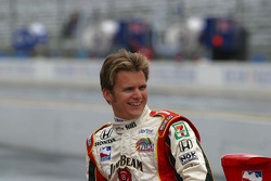 Dan Wheldon between shoots