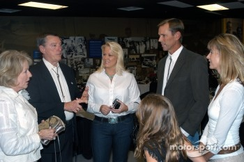 Betty and Johnny Rutherford with Gina, Johnny, Shauna and Loni Unser