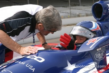 Al Unser Jr. with dad Al Unser Sr.