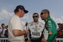Buddy Rice, Dario Franchitti and Tony Kanaan