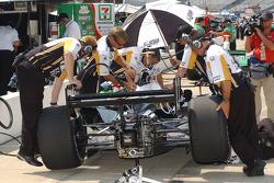Andretti Green team members at work
