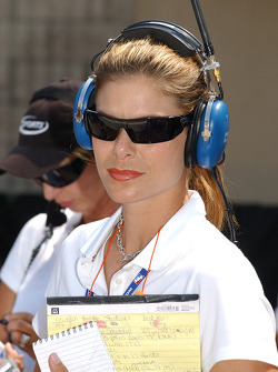 Pit reporter Jamie Little