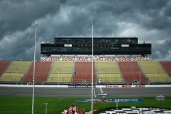 Menacing clouds over Michigan International Speedway