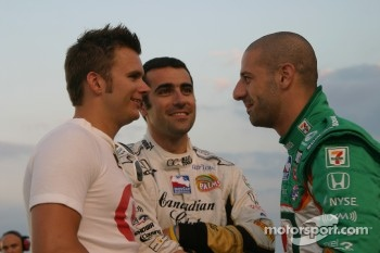 Tony Kanaan, Dan Wheldon and Dario Franchitti