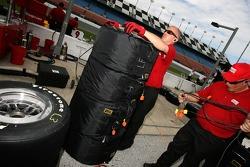 Target Chip Ganassi Racing crew members at work