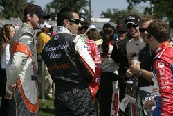 A.J. Foyt IV, Dario Franchitti, Marco Andretti and other drivers get ready for the drivers introduction