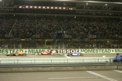 The green flag is waved to start the race