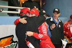Victory lane: race winner Dan Wheldon celebrates with Chip Ganassi