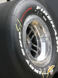 An Indy 500 Firestone Firewhack tire