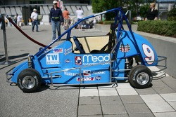 Midget race car on display