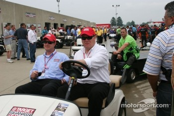 Chip Ganassi returns to the track after the rain delay