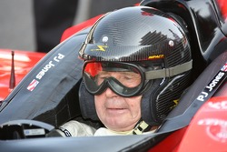 1963 Indianapolis 500 winner Parnelli Jones in his son's (P.J. Jones) car