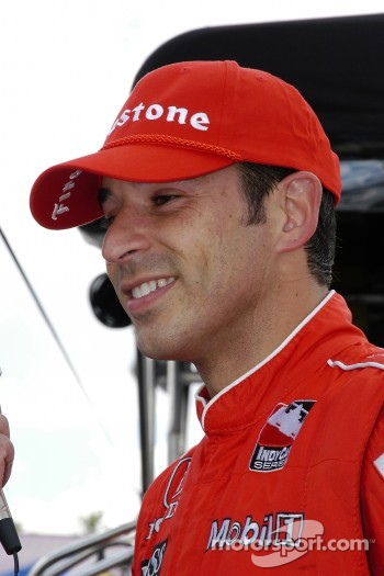 Helio Castroneves happy with the pole position
