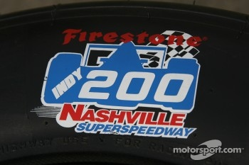 The logo for the Firestone Indy 200