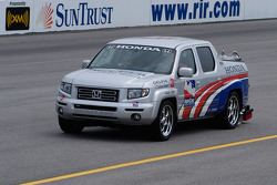 Safety truck checks the track
