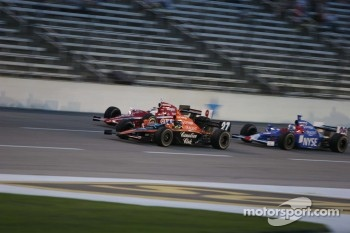 Dario Franchitti, Scott Dixon and Marco Andretti