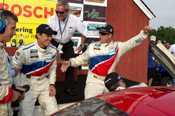 Victory lane: race winners Joao Barbosa, Terry Borcheller and JC France celebrate with Hurley Haywood