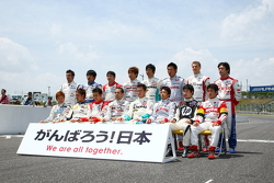 Formula Nippon 2011 drivers photoshoot