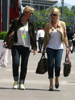 Corina Schumacher, Corinna, wife of Michael Schumacher and Sabine Kehm, Michael Schumacher's press officer