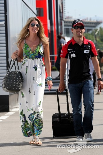 Isabell Reis, girlfriend of Timo Glock, Timo Glock, Marussia Virgin Racing