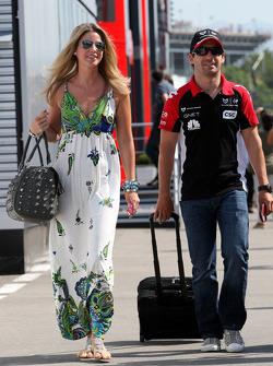 Isabell Reis, girlfriend of Timo Glock, Timo Glock, Marussia Virgin Racing