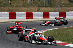 Vitantonio Liuzzi, Hispania Racing Team, HRT, Timo Glock, Marussia Virgin Racing